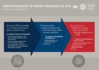 Service-Disabled Veterans' Insurance (S-DVI) Insurance Coverage Eligibility Graphic