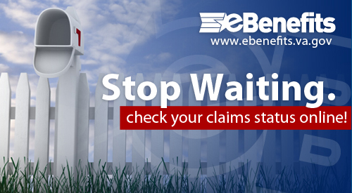 mailbox, picket fence, eBenefits www.eBenefits.va.gov Stop Waiting. Check your Claim status Online!