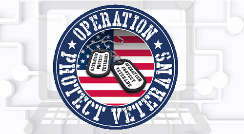 Operation Protect Veterans logo.