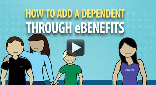 How to add a dependent in eBenefits.