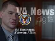 Medal of Honor recipient Kyle White with VA News digital logo