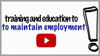 Training and Education to Maintain Employment