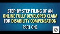 Screenshot of Step by Step Filing a Fully Developed Claim Video Part 1