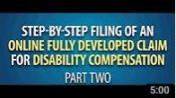 Screenshot of Step by Step Filing a Fully Developed Claim Video Part 2