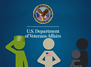Stylized Servicemember, Veteran, and dependents graphic