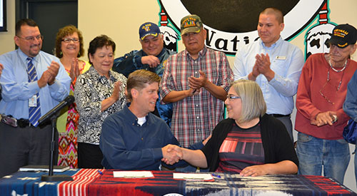 Prairie Band of Potawatomi Nation MOU Signing