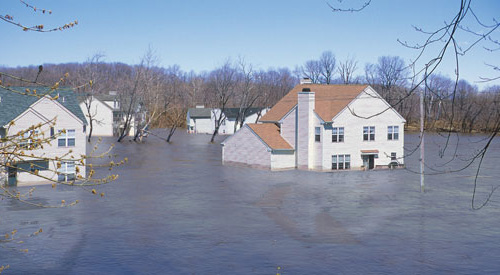 Image of flooded neighborhood