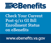 check your current post 911 gi bill enrollment status on ebenefits