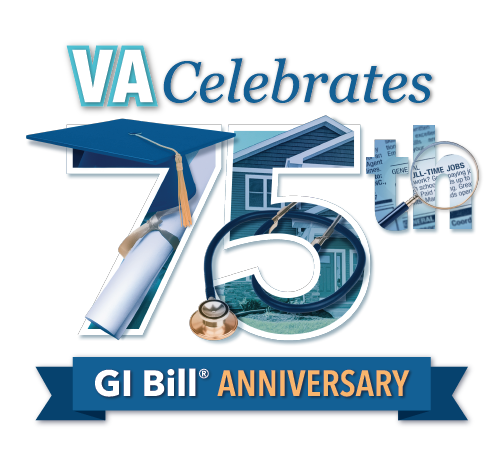 GI Bill 75th Anniversary logo